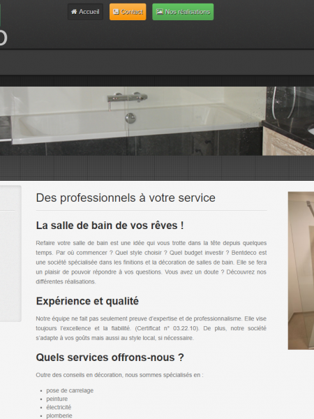 BentDeco – Web Interface
