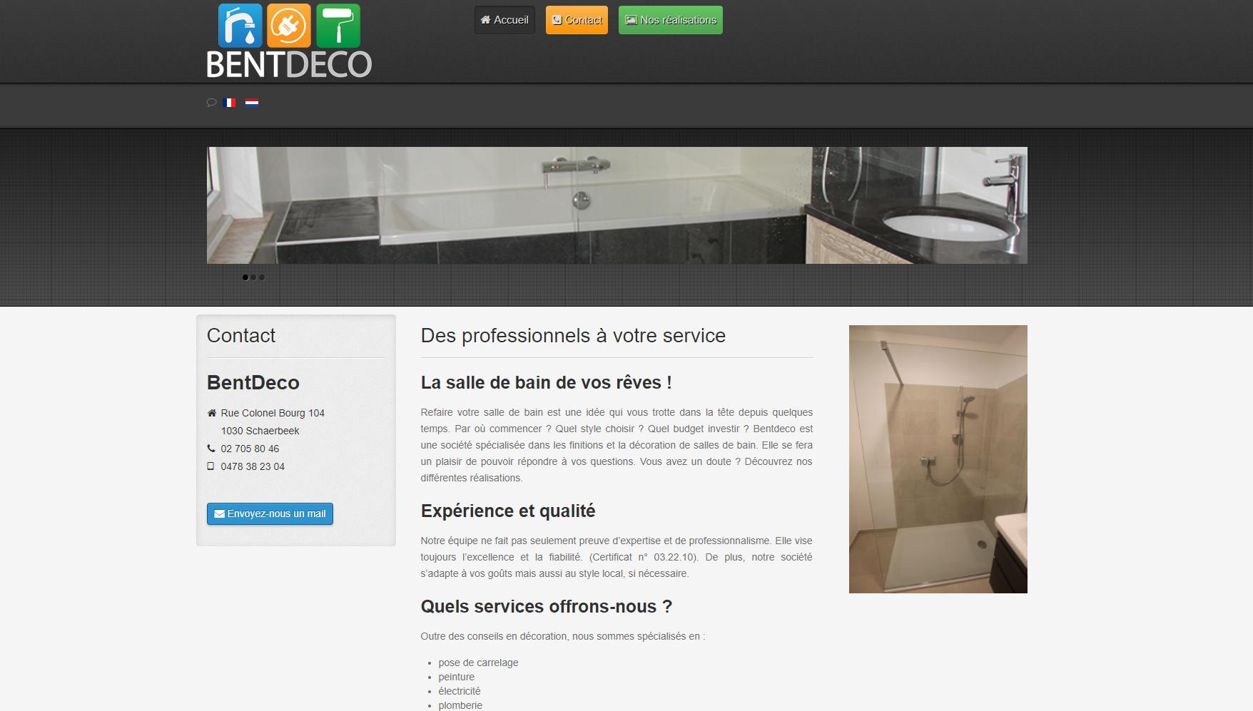 BentDeco - Web interface